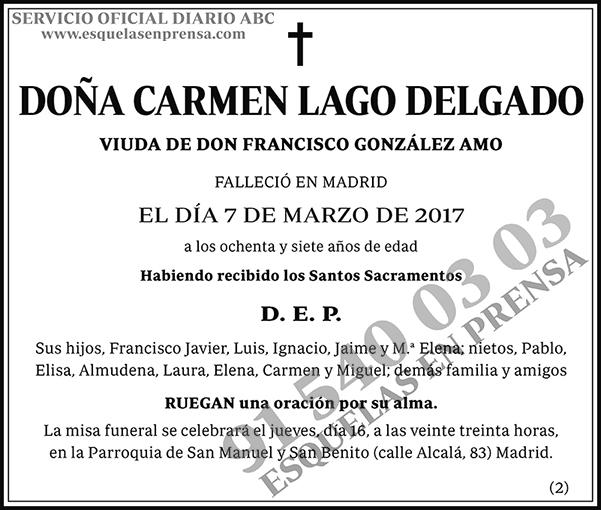 Carmen Lago Delgado